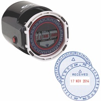 Colop R40 Time Date Stamp - 12Hr 4mm Type Self Inking