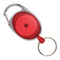 Rexel Snap Lock Retractable Card Holder Red Pk1
