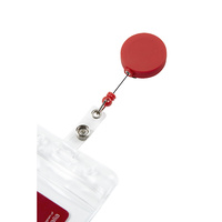 Rexel ID Soft Touch Badge Reel Retractable Red