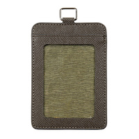 Rexel Card Holder Port Brown Pu Finish