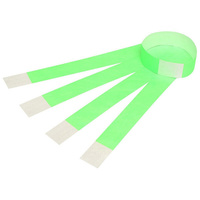 Rexel Wrist Bands Serial Number Fluoro Green Pk10