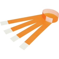 Rexel Wrist Bands Serial Number Fluoro Orange Pk100