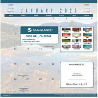 At-A-Glance Landscape Monthly Calendar 2020