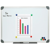 Boone Commercial Whiteboards Magnetic Aluminium Frame 600X900