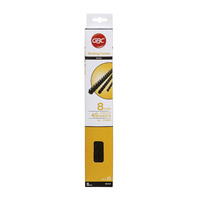 GBC Plastic Binding Comb 8mm 21 Ring 45 Sheet Capacity Black