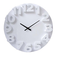 Carven Fashion Clock 3D 350mm White