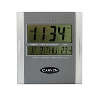 Carven Digital Wall Clock Silver