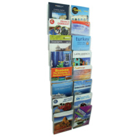 Esselte Cliplock Brochure Holder A4 8 Tier 16 Compartments