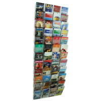 Esselte Cliplock Wall System Brochure Holder 48 X DL Pockets