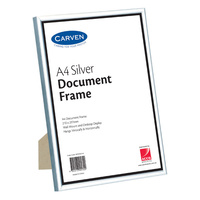 Carven Certificate Frame A4 Desk Wall Mountable Silver