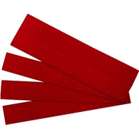 Quartet Magnetic Strips 22X150mm Red 25Pk