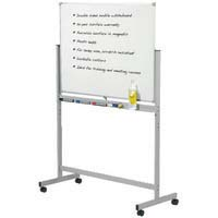 Penrite Porcelain Mobile Whiteboard 1200x900mm 25Yr Warranty