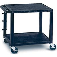 Tuffy Utility Trolley 2 Shelf H66cm Black