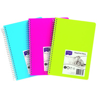 Derwent Visual Art Diary Bright Colour A5 Assorted Colours