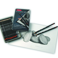 Derwent Graphic Pencils Sketch G 9B H Tin12