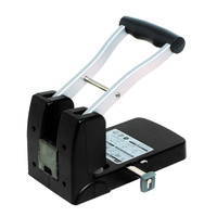 Rexel Polaris Power 2 Hole Punch 100 Sheet Black Silver