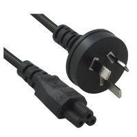 8WARE POWER CABLE - From 3-Pin AU Male to IEC C5 Female plug in - 1m