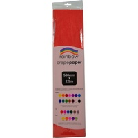 Rainbow Crepe Paper 500mmx2.5m Red