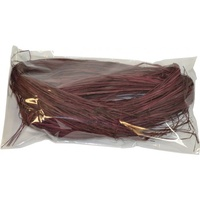 Rainbow Coloured Raffia 25gm Burgundy