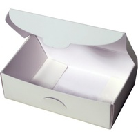 Rainbow Cake Gift Boxes 90x57mm Fold Height 28mm White Pk25