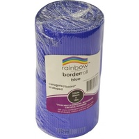 Rainbow Corrugated Border Roll Scalloped 60mmx15m Blue