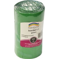 Rainbow Corrugated Border Roll Scalloped 60mmx15m Green