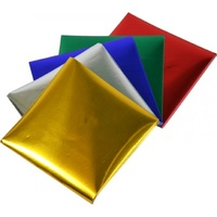 Rainbow Foil Paper Squares 85gsm Single Sided 125mm Pk100
