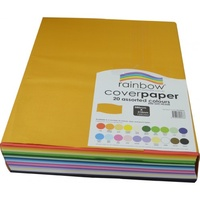 Rainbow Cover Paper 125gsm 380mmx510mm Assorted