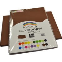 Rainbow Cover Paper 125gsm A3 Brown