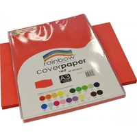 Rainbow Cover Paper 125gsm A3 Red