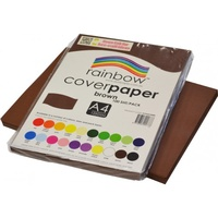 Rainbow Cover Paper 125gsm A4 Brown