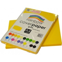 Rainbow Cover Paper 125gsm A4 Gold