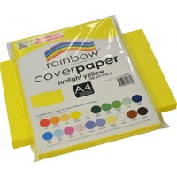 Rainbow Cover Paper 125gsm A4 Sunlight Yellow