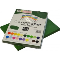 Rainbow Cover Paper 125gsm A4 Xmas Green