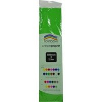 Rainbow Crepe Paper - 500mmx2.5m Grass Green