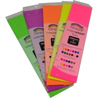 Rainbow Fluro Crepe - 500mmx2 5m Assorted
