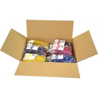 Rainbow Coloured Raffia Box 25g Assorted