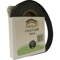 Rainbow Stripping Roll Ribbed 25mmx30m Black