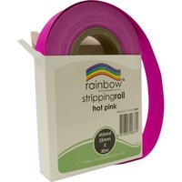 Rainbow Stripping Roll Ribbed 25mmx30m Hot Pink