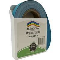 Rainbow Stripping Roll Ribbed 25mmx30m Turquoise