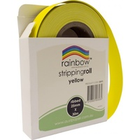 Rainbow Stripping Roll Ribbed 25mmx30m Yellow