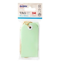Avery Tag-It Durable Tabs Shipping Tag Brown Size 3 PasteLight Green Strung Tickets 24pk