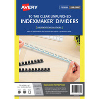 Avery Translucent Dividers Unpunched Clear Labels 8 Tabs