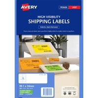 Avery L7162FG Laser Labels 16 Sheet 99.1X34mm Flouro Green