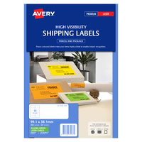Avery L7163FG Laser Labels 14 Sheet 99.1X38.1mm Flouro Green