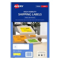 Avery L7162FY Laser Labels 16 Sheet 99.1X34mm Flouro Yellow