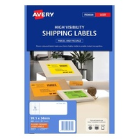 Avery L7162FO Laser Labels 16 Sheet 99.1X34mm Flouro Orange