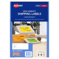 Avery L7163FO Laser Labels 14 Sheet 99.1X38.1mm Flouro Orange