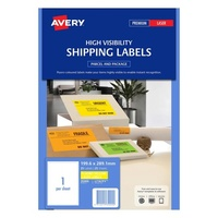 Avery L7167FY Laser Labels 1 Sheet 199.6X289mm Flouro Yellow