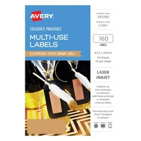 Avery Home Labels L7261 Copper Label 16Up 63.5X24mm A5 10/Pk